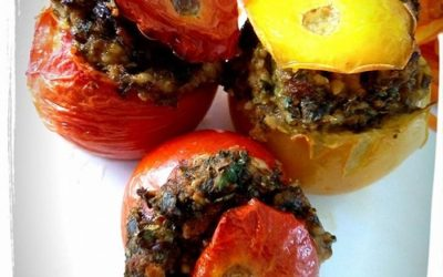 Petits farcis de tomates aux pignons de pin