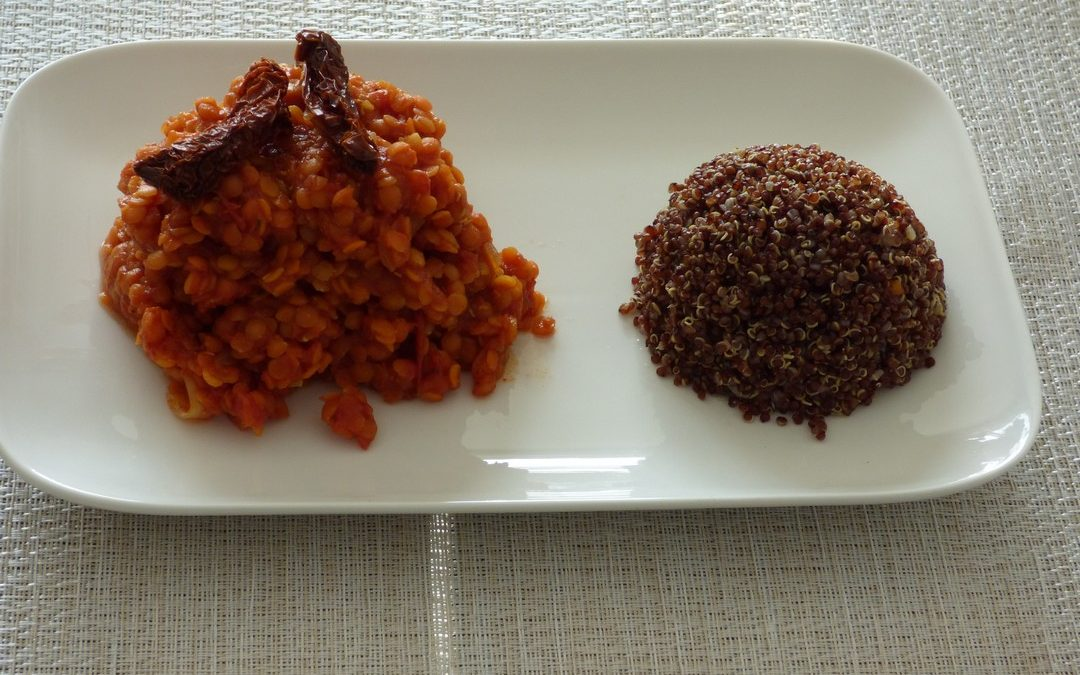 Curry de lentilles corail à la tomate
