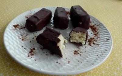 Mes barres chocolatées à la coco