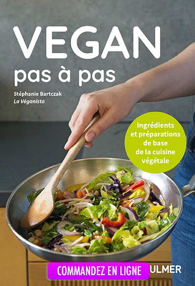 Photo de l apochette du livre Végan pas à pas de Stéphanie Bartczak