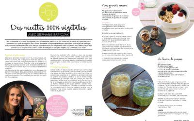 «Des recettes 100% végétales avec Stéphanie Bartczak» – Pop Magazine – Janv. 2019