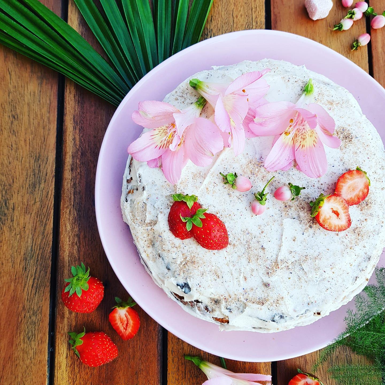 gateau vegan fraise