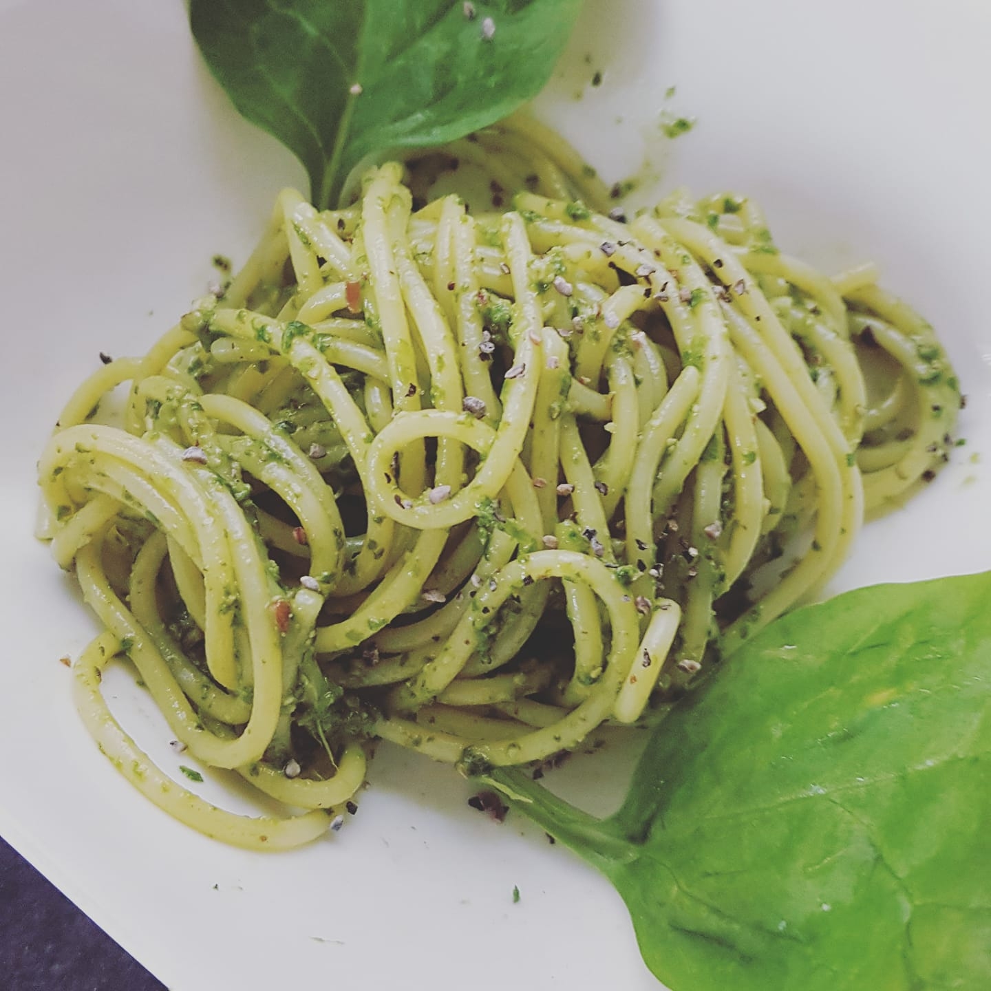 pesto vegan épinards